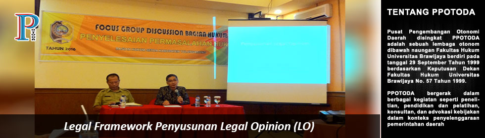 Legal Framework Penyusunan Legal Opinion (LO)